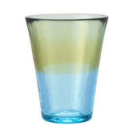 【KEYUCA公式店】ケユカ にほんの色 グラス L 白藍 [日本製 国産 コップ ハンドメイド 手作り 津軽びいどろ グラス シンプル かわいい おしゃれ ガラス ビードロ デザイン グリーン 通販 楽天]