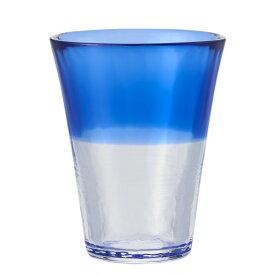 【KEYUCA公式店】ケユカ にほんの色 グラス L 瑠璃 [日本製 国産 コップ ハンドメイド 手作り 津軽びいどろ グラス シンプル かわいい おしゃれ ガラス ビードロ デザイン ブルー 通販 楽天]