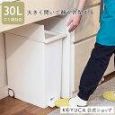 【KEYUCA公式店】ケユカ arrots ダストボックスII ゴミ箱 L 27L ホワイト | 観音開き ペダル式 シンプル ダストボック…