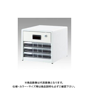 ナカバヤシ アバンテV2レターケース浅3段X鍵付1段 AL-R4シロ