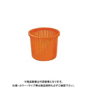 【送料別途】【直送品】安全興業 丸型収穫かご オレンジ(ベルト付) 中 330×275mm (16入)