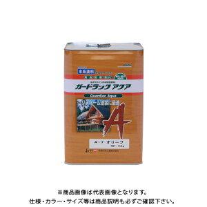 和信ペイント ガードラックアクア オリーブ 14kg #950157