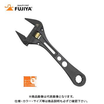 フジ矢FUJIYAギア付モンキーレンチ(黒金)FGL-38-BG