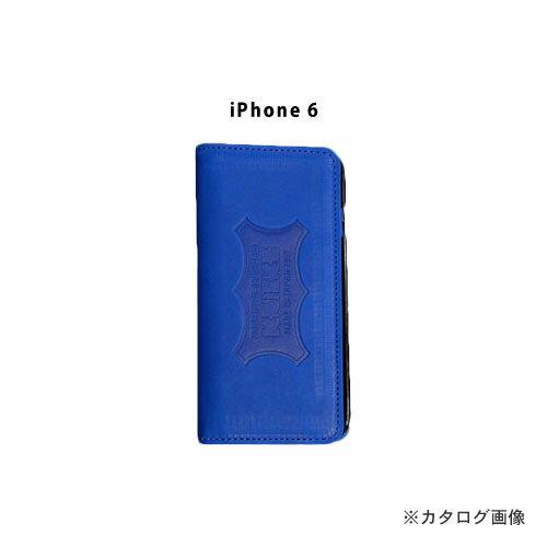 ニックス KNICKS i6-BL iPhone6 本革携帯ケース カードホルダー付 ブルー