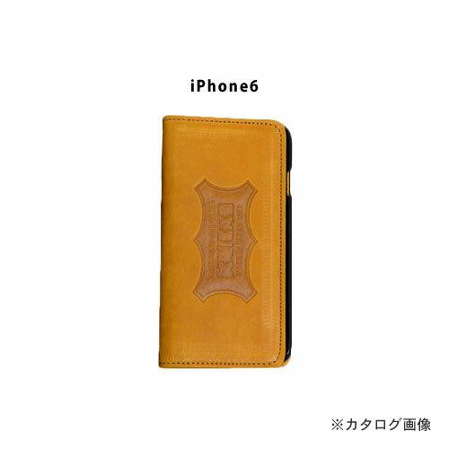 ニックス KNICKS i6-C iPhone6 本革携帯ケース カードホルダー付 キャメル