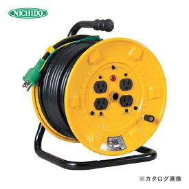 【イチオシ】日動工業 100V 一般型ドラム 30m アース付 NP-E34