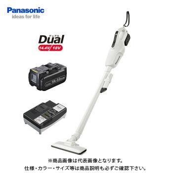 パナソニックPanasonic工事用充電コードレスクリーナーホワイトDual18V(5.0Ah電池1個付)EZ37A3LJ1G-W