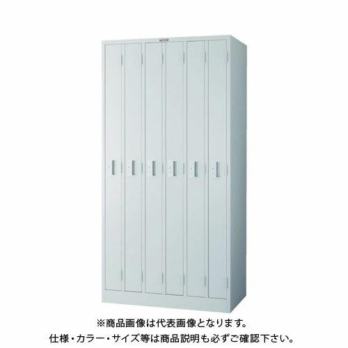 【個別送料2000円】【直送品】 TRUSCO スリムロッカー 6人用 900X515XH1790 ホワイト WL-6S