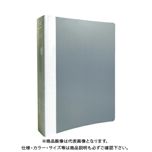 TRUSCO PP Oリングファイル A4タテ 35mm グレー TOF435-GY
