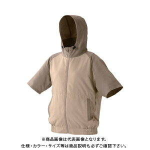 IRIS カジュアルクールウェア半袖セット(フード有り)L CCHS-L02-BE