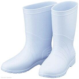 サニフィット耐油長靴 男性用 軽量タイプ 白 28cm 2-3802-04
