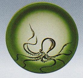 回転寿司皿 魚シリーズ 蛸 グリーンぼかし