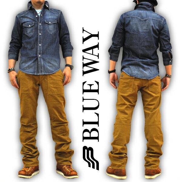 ブルーウェイ BLUE WAY ライディングパンツ ビンテージダックワークパンツ M1800 23 メンズ 日本製