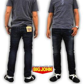 BIG JOHN ビッグジョン ハイパワーストレッチデニム スリムテーパード ビンテージユーズド MR105H-112 メンズ