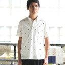 かりゆしウェア ポロシャツ メンズ 月桃物語 伝統紋様柄 ボタンダウン 父の日 プレゼ...