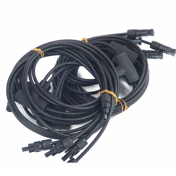 ソーラーケーブルPV-CCケーブル Multi-Contact社製 MC4コネクタ 5分岐(2本1セット)各条長1m