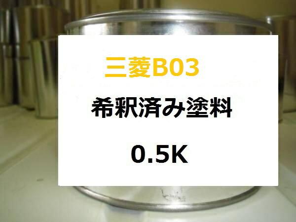 三菱 B03 希釈済 1液 塗料 ミツビシ ポートサイドブルー