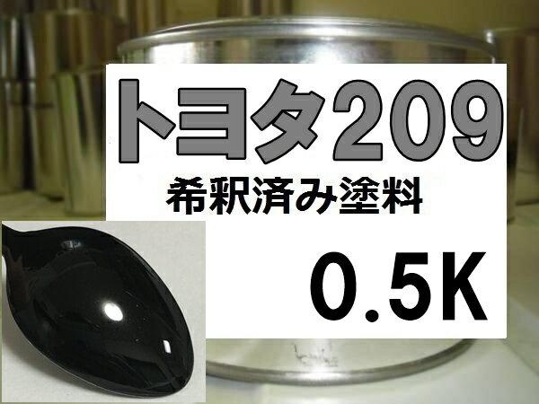 トヨタ209 塗料 ブラックマイカ マークX ist プロボックス