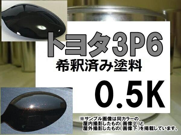 トヨタ3P6 塗料 ブラキッシュレッドマイカ ソアラ 希釈済