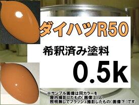 ダイハツR50 塗料 サンセットオレンジ エッセ 希釈済