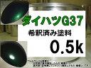 ダイハツG37 塗料 ブリティッシュグリーンマイカ ミラ