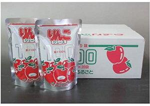 秋田ふるさと農協 増田町 果汁100%りんごジュース 180g×20個(1ボール)