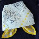 バンダナ 大判 黄色 おしゃれ 北欧 カントリー ネコのトランプ柄 かわいい マジックキャット コットン インド綿 綿100…