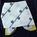 バンダナ 大判 北欧 おしゃれ かわいい カントリー ドット柄 水玉 ハンドブロックプリント フォーリングドット インド綿 イエロー 黄色 YE 緑 グリーン 綿100% お弁当 包み スカーフ ハン