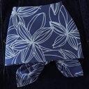 バンダナ 大判 北欧 お弁当 包み カントリー アジアン ヒュッゲ 花柄 ラインフラワー インド綿 コットン100% ネイビー ブルー 紺 青 NV スカーフ ハンカチ 55cm×55cm