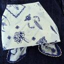 バンダナ かわいい おしゃれ 北欧 カントリー 花柄 ベジタブルフラワー 大判 コットン インド綿 綿100% ブルー 青 紺 NV スカーフ ハンカチ スタイ 53cm×53cm
