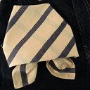 バンダナ 大判 北欧 おしゃれ カントリー ストライプ柄 ペアレントボーダー インド綿 コットン 綿100% ベージュ 薄茶 BE お弁当 包み スカーフ ハンカチ ハンドブロックプリント 正方形 55cm×55cm