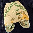 バンダナ かわいい おしゃれ 北欧 東欧 お弁当 包み カントリー 森の動物と木の実 大判 コットン インド綿 綿100% グリーン 緑 GR スカーフ ハンカチ スタイ 風呂敷 ギフト レディース