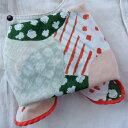 バンダナ かわいい おしゃれ 北欧 カントリー 花柄 ラウンドフラワー コットン インド綿 綿100% 白 グリーン GR レッド 赤 ハンカチ スカーフ スタイ 52cm×52cm