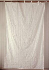 カーテン 間仕切り つっぱり 北欧 おしゃれ 花柄 レース 刺繍 総柄 カントリー ステッチフラワー エンブロイダリー 綿100% コットン ナチュラルホワイト 白 インド綿 丈180cm 幅110cm