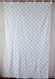 カーテン 間仕切り つっぱり 北欧 おしゃれ 花柄 レース 刺繍 総柄 カントリー ステッチフラワー エンブロイダリー 綿100% コットン ネイビー 紺 ホワイト 白 インド綿 丈180cm 幅110cm