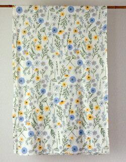マルチカバー・アジアン・イタワ織・長方形・アジアン・小花柄・ディンティフラワー・インド綿