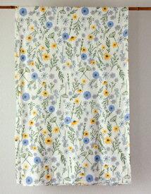 マルチカバー 北欧 ヒュッゲ おしゃれ かわいい 長方形 花柄 アジアン イタワ織 エリシアンフラワー インド綿 ナチュラル NT ベッドカバー シングル ソファカバー マルチクロス 横145cm 縦225cm