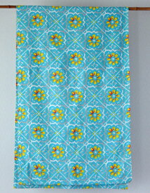 マルチカバー おしゃれ 北欧 長方形 アジアン かわいい 花柄 リタフラワー インド綿 ヒュッゲ ターコイズ ブルー 青 BL ベッドカバー ソファカバー マルチクロス シングル コットン 綿100% 綿 幅145cm 丈225cm