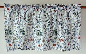 咖啡厅窗帘花纹北欧hyuggeajian打扮得漂亮,可爱的小奏鸣曲花印度棉棉布100%白天然的多长45cm宽105cm隔开支柱