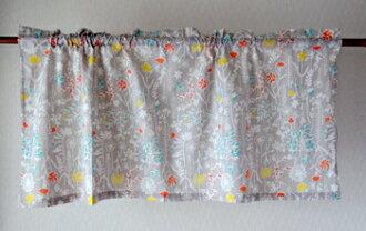 咖啡厅窗帘花纹北欧hyuggeajian打扮得漂亮,可爱的小奏鸣曲花印度棉棉布100%灰色天然的多长45cm宽105cm隔开支柱