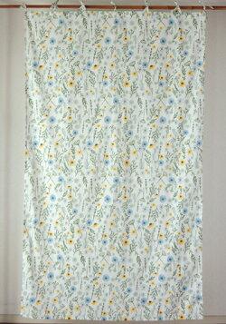 カーテン・間仕切り・アジアン・花柄・エリシアンフラワー・インド綿