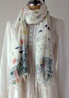棉布纱布货摊大型北欧打扮得漂亮,可爱的印度棉巴里纱纱布花纹夸大的市镇白竹荚鱼安白藏青色深蓝围巾