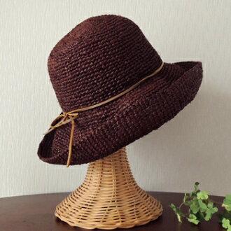 草帽子夏rafia帽子漂亮的钥匙制造唾液宽大的burimuhattoredisurezasutoringuburaun BR