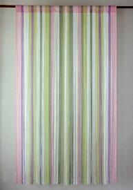 ストリングカーテン ひものれん ストリングのれん 紐のれん 北欧 ヒュッゲ 目隠し 安っぽくないお色厳選 マルチヤーン ペールピンク PI 丈150cm 幅85cm