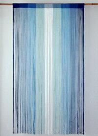 ストリングカーテン ひものれん ストリングのれん 紐のれん 北欧 アジアン 目隠し 安っぽくないお色厳選 トーンカラー ネイビー 紺 ブルー 青 ホワイト 白 BL 丈150cm 幅85cm