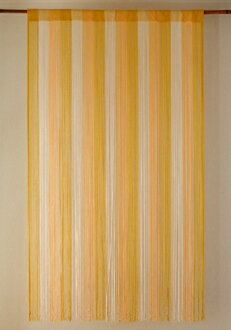 Thong goodwill and string curtain and not cheesy color selection, gradation, yellow /YE, length 150 cm x width 85 cm