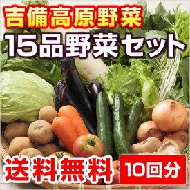 10回分■送料無料■【吉備高原農家の野菜】大盛り15品セット【税込】29800円