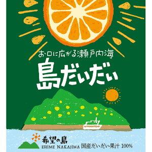 希望の島 だいだい果汁 150ml 100% 国産 ストレート愛媛県 中島産 だいだい使用 香りの果汁シリーズ