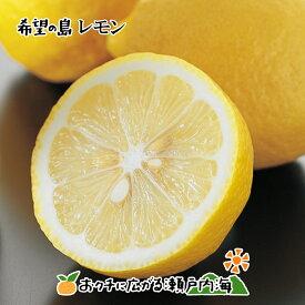 【冷蔵便】希望の島 国産レモン 3kg 家庭用 大玉 残留農薬ゼロユーレカレモン 国産 愛媛 中島産