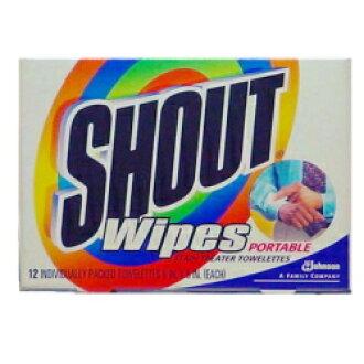 12张shautowaipu的潮湿的手巾纸型的污垢丢落